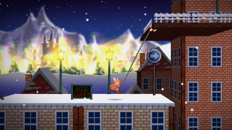 フリーゲーム「ニュー・スーパーフックガール」を操って、最果ての地までたどり着け!!